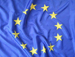 The Flag of Europe, emblem of the European Union and Council of Europe
